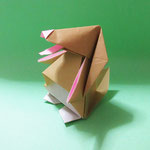 たれみみくん(ちび)Flopear-kun,pup。2006/8/11創作。正方形2枚。