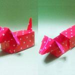 ひきだしダックス Drawer Dachshund。2013/7/21創作。1:2長方形2枚。