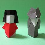 きんたろうとくま Kintaro and Bear。2017/10/31創作。ともに正方形2枚。
