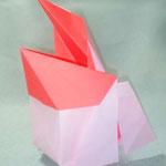 はこぺりかん2羽目Cube-Pelican ver.2nd。2017/3/16創作。正方形2枚。