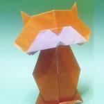 くびふりねこ Head Shaking Cat。1979.10.02 創作。正方形2枚。