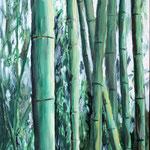 """""""Bambus"""" - Öl auf Pappe"""