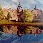 """""""Schloss Bückeburg"""" - unverkäuflich - Öl auf Leinwand"""