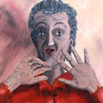 """Der Pantomime"" (1992) - Öl auf Pappe"