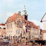 """""""Rathaus Bückeburg"""" - unverkäuflich - Öl auf Pappe"""