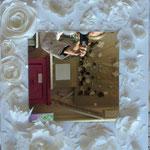 Découpage blanc mirror 70x50