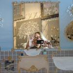 Bain bleu mirror 70x50