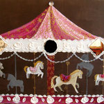 Merry go round chocolate and pink 80x120