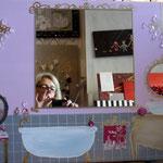 bain rose mirror 70x50