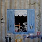Fenêtre aux chats 100x100