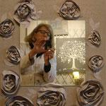 Roses beige  mirror 70x50