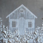 Cabane blanche 70x70 or 80x80