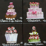 cup cakes brown 8x20x20