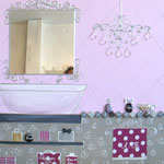 Hamam pink and argent 80x80