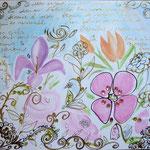 message fleuri 80x60