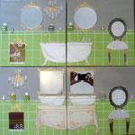Bath green 4x30x30