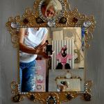 Oriental mirror 50x70
