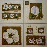 Fleurs rustiques 4x30x30