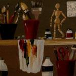 Atelier de peintre 100x50