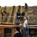 Rénovation du toit de la forge au Château du Rathsamhausen