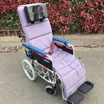 リクライニング車椅子 起した場合