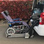 リクライニング車椅子 リフト昇降