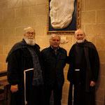 da sx a dx: Padre Bernardino, Paolo A. Fanizza, Padre Michele
