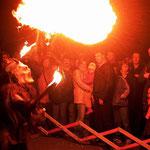 Hervoragende Feuershow