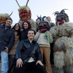 Ein Gruppenfoto mit den Fans