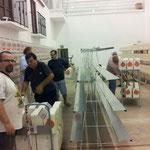 Los Primeros dias del montaje de jaulas