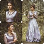 Платье сложного, лилово-серого оттенка. Размер: 40-42, рост: 170-176, прокат: 2000