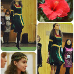 Платье для ирландских танцев. Уровень - beginner-primary.An Coimisiun Le Rinci Gaelacha, Iridan. Материал - хлопковый бархат, креп-сатин, вышитая тесьма. Платье делалось по средневеково-эльфийским мотивам.