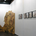 Spook™: INVOCATION, Installation view, variable dimensions, framed drawings & plywood construction, 2011
