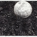 "High moon, 9"" x 12"", graphite on paper, 2011"