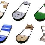 mobile minigolfbahn für das affentheater