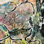 Mr. Saltgreen, 2011, 110 x 90 cm, Ölharz und Lack auf Leinwand