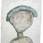 Mr. Findushy, 2006, 30 x 21cm, Aquarell auf Packpapier