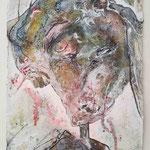 Richard Wagner, 2015, 30 x 20 cm, Lack und Aquarell auf Büttenpapier