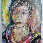 Bärbel Weissmann, 2016, 37 x 28 cm, Aquarell und Lack auf Büttenpapier