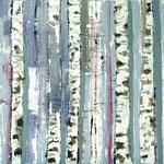 Waldlandschaft, 2005, 80 x 100 cm, Ölharz und Lack auf Leinwand