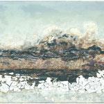 Bald gibt es kein Eismeer mehr, 2007, 54 x 85 cm, Ölharz und Lack auf Leinwand (Fensterflügel)