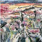 Sie kamen aus dem Tal, 2009, 130 x 410 cm, Ölharz und Lack auf Leinwand, dreiteilig