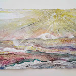 Ostseeseele III, 2015, 15 x  30 cm, Lack und Aquarell auf Büttenpapier