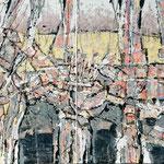 Ausgegraben, 2004, zweiteilig, 110 x 190 cm, Ölharz und Lack auf Leinwand