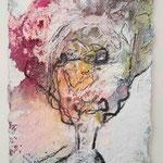 Richard Wagner, 2015, 15 x 10, Lack und Aquarell auf Büttenpapier