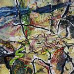 Maja, 2011, 110 x 90 cm, Ölharz und Lack auf Leinwand