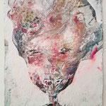 Punk, 2015, 30 x 20 cm, Lack und Aquarell auf Büttenpapier
