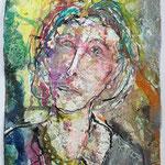Kathrin, 2016, 37 x 28 cm, Aquarell und Lack auf Büttenpapier