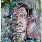 Sebastian, 2016, 37 x 28 cm, Aquarell und Lack auf Büttenpapier