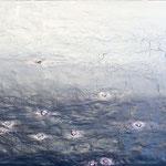 Raum begegnet Zeit, 2014, 53 x 85 cm, Ölharz und Lack auf Leinwand